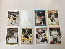 Ray Bourque Quantity 8 Hockey Cards NM/M Boston Bruins Topps O-Pee-Chee