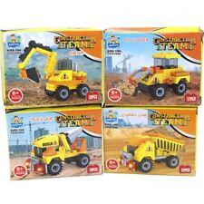 12x Bausteine Set Baustelle Bagger Auto Mitgebsel Kindergeburtstag Spielzeug