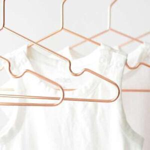 10pcs Children Kids Rose Copper Gold Shiny Metal Wire Coat Clothes Closet Hanger