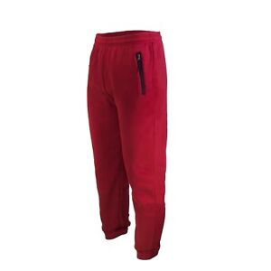 MENS CASUAL SWEATPANTS SLIM-FIT JOGGERS FLEECE PANTS WITH ZIPPERS ON POCKETS
