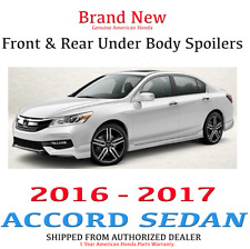 Genuine OEM Honda Accord 4Dr Front & Rear Under Body Spoiler 16-17 Sport Touring