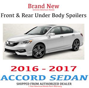 Genuine OEM Honda Accord 4Dr Front & Rear Under Body Spoiler 16-17 Sport Touring