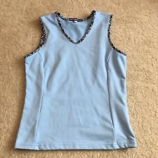 90's Smash Gal Small Tennis Tank Top Shirt Womens Athletic Wear Light Baby Blue