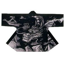 NEW HAPPI Room wear Black Awkward Japanese Festival Coat Hanten Yukata Kimono