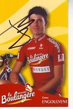 CYCLISME  carte cycliste JIMMY ENGOULVENT équipe LA BOULANGERE 2003 signée