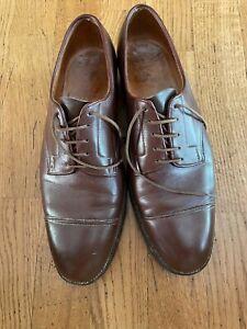 JOHN LOBB Light Brown Leather Mens Cap Toe Oxford  Dress Shoes - SZ 8 1/2 US