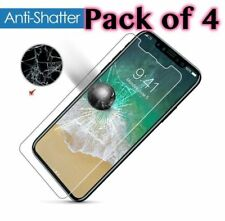 4 X Genuine Tampered Glass Screen Protector For Apple iPhone X / 10  2018