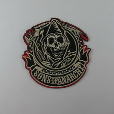 SONS OF ANARCHY SKULL EMBROIDERED SEW IRON ON PATCH BIKER T-SHIRT JACKET A#2