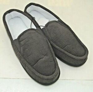 Men's Corduroy Inside/Outside House Shoes  Charcoal Grey Size 11M & 12M