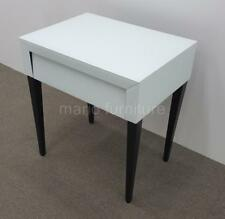LIANG AND EIMIL Pure White Glass/Wenge Legs Bedside Table NEW