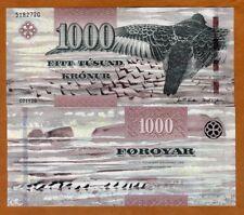 Faeroe Faroe Islands 1000 Kronur 2011 (2012) P-33 UNC > Bird