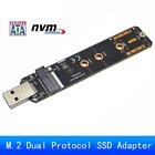 Dual Protocol M.2 NVME to USB 3.1 SSD Adapter, NGFF Converter Card Gen2 RTL9210B