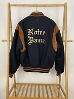 RARE VTG Champion Designed & Tailored Notre Dame Varsity Letterman Jacket M EUC
