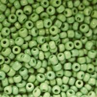 Perles de Rocaille 2mm couleur vert prairie opaque (x 20g)