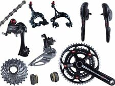 2014 Campagnolo Centaur Black and Red Triple Power Torque Group Set 9 pcs New