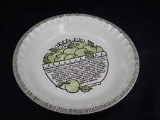 "Vintage Royal China Jeannette Recipe Pie Plate Apple Bakeware Dish 11"""