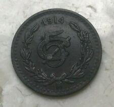 1914 Mexico 5 Centavos - Nice Copper