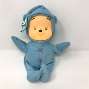 Fisher Price Winnie The Pooh Light Up Glowing Blue Musical Plush Doll Baby 2002