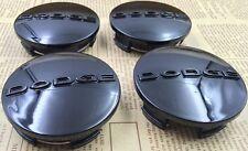 """(4x) Dodge 2.5"""" Black Center Caps 63mm Hub Caps Fits: 17""""-20"""" Wheels 1SK35TRMAA"""
