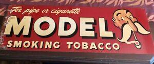 "Vintage Model Smoking Tobacco Sign - Advertising Cigarettes  - 34"""