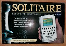 Excalibur Solitaire Executive Electronic Game Pocket Travel Silver Card Tested