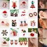 Christmas Santa Claus Ear Clip Earrings Cuff Enamel No Piercing Clip On Jewelry