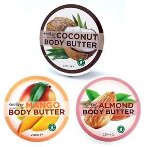 BODY BUTTER 220ML Body Moisturiser MANGO COCONUT. ALMOND Set of 3 Vegan