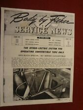 """1953 Buick Series 40 Convertible """"Fisher Body Service News"""" Manual"""