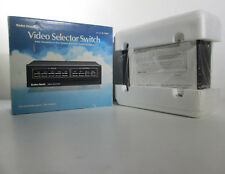 Video Selector Switch Radio Shack 15-1266A Pushbutton Control 5 Inputs 2 Outputs