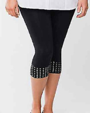 Lane Bryant pull on control top capri legging with studs size C-D