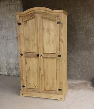 corona Pinie Massiv Kleiderschrank Massivholzschrank 2 türig Holz 100x189x56