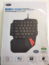XINMENG TASTIERA K108 GAMING KEYBOARD USB PER PC NOTEBOOK NUOVA COMPLETA !!
