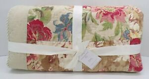 Pottery Barn Carolina Patchwork Floral Reversible Quilt Full Queen Multi #9582