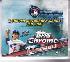 2016 Topps Chrome Baseball Jumbo Factory Sealed Box