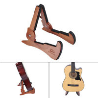 Universal Foldable Guitar Stand Holder Mahogany Solid Wood String J6D7