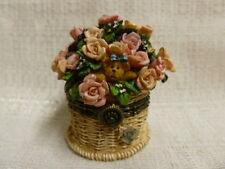 Boyds Bear Pinkie's Flower Basket W/ Rose McNibble Treasure Box 82527 Nib