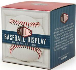 BallQube Baseball Square Holder Clear Acrylic Display Case