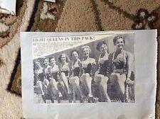 m57a ephemera 1950s picture miss swimsuit 1957 holborn london line up