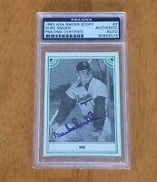 Duke Snider Los Angeles Dodgers Signed Autograph Baseball Card PSA/DNA Slabbed
