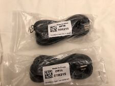 DELL DP/N 00R215 10Ft. 3 Prong Power Cord Lot Of 2 New In Bag 14AWG AC Fits Many