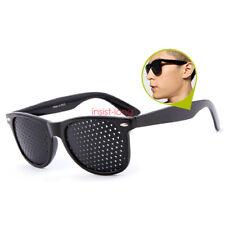Black Eyesight Improver Anti-fatigue Vision Care Stenopeic Pinhole Glasses Train
