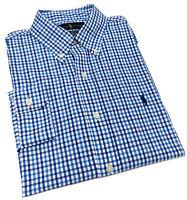 Polo Ralph Lauren Tattersall Performance Stretch Long-Sleeve Woven Shirt in Blue