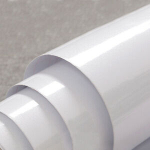 White Contact Paper Peel and Stick Wallpaper Self Adhesive Pure Solid Color Film
