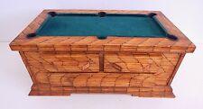 Vintage Tramp Art Prison Art Folk Art Matchstick Pool Table - Incredible