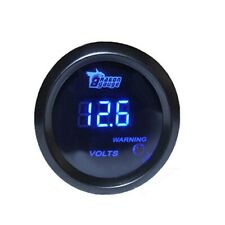 DRAGONGAUGE 2inch 52mm Blue Digital LED Electronic Volt Meters Gauge N7L3
