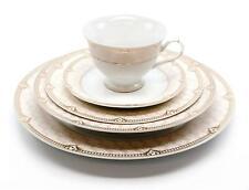 Royalty Porcelain Vintage Antique 20-pc Dinnerware Set 'Sandra Pink Gold'