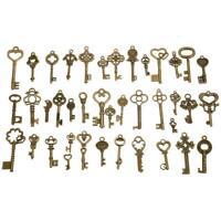 40X Vintage Schlüssel Bronze Mix - Steampunk I6E1