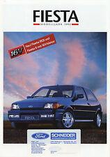 Ford FIESTA prospectus 3/92 brochure 1992 auto voitures autoprospekt brochure Europe