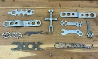 Vintage Lot of Motorcycle Automotive Specialty Wrenches Small Tools Bike Engine