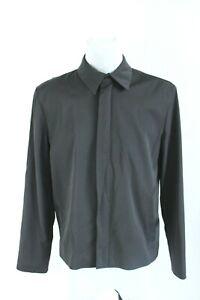 RICHMOND BNWT black lightweight casual zipper spring men jacket size IT 48 EU M